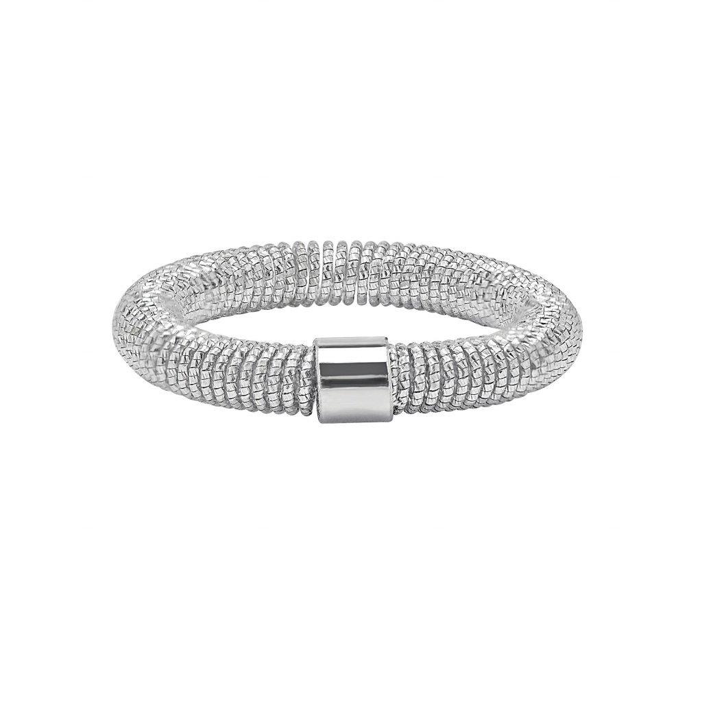 Spring Ring In 18K White Gold