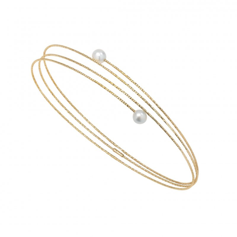 Nouveau Bracelet With White Pearl