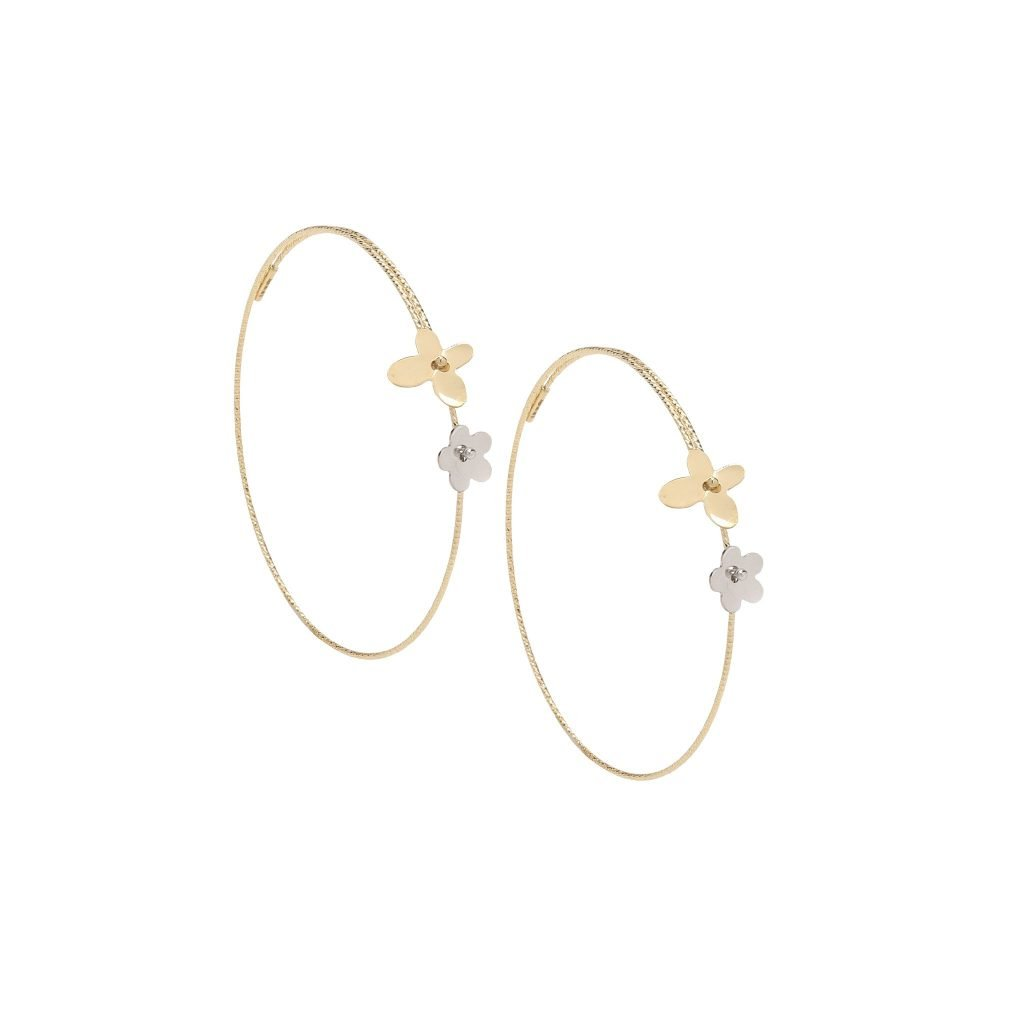 Mixed Metal Serenity Wire Hoops