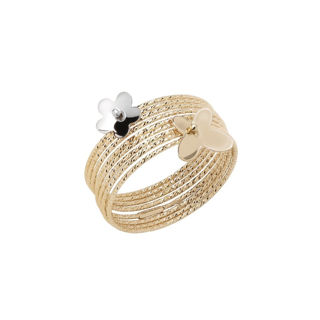 Mixed Metal Serenity Wire Ring